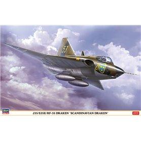 """Hasegawa 07482 Flygplan J35/S35E/RF-35 DRAKEN """"SCANDINAVIAN DRAKEN"""""""
