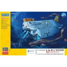 Hasegawa 52236 Ubåt Manned Research Submersible Shinkai 6500 Seabed Diorama Set