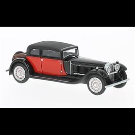 BOS 87331 Bugatti Type 41 Royale by Weymann, svart/röd, RHD, 1929