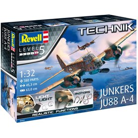 "Revell 00452 Flygplan Junkers JU88 A-4 ""Technik"" with Light and functions"