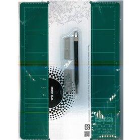 """Morn Sun 69020 Skärmatta 22 x 30 cm, 3 mm tjock, grön """"Self Healing"""" medföljer skalpell"""