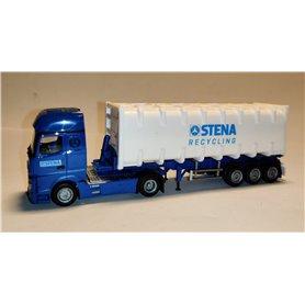 "AHM AH-937 Mercedes-Benz Actros Giga bulk container semitrailer ""Stena Recycling"""