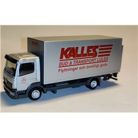 "AHM AH-939 Mercedes-Benz Atego box truck with liftgate ""Kalles Bud & Transport"""