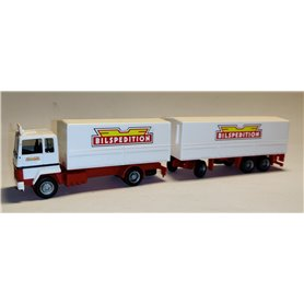 "AHM AH-941 Ford Transconti canvas cover trailer ""Bilspedition"""