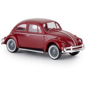 """Brekina 25044 VW Beetle """"de luxe"""", mörkröd, TD"""