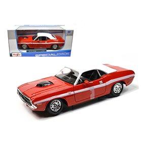 Maisto 31263 Dodge Challenger R/T Coupe 1970, röd