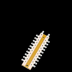 Brawa 3916 Kopplingsplint för lödning, 20 anslutningar, 160 mm längd