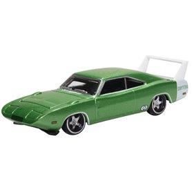 Oxford Models 133426 Dodge Charger Daytona 1969 Bright Green/white