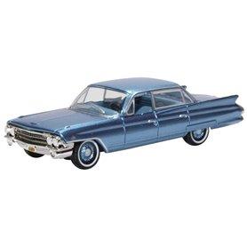 Oxford Models 133396 Cadilac Sedan Deville 1961 Nautilus Blue