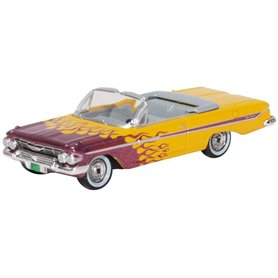 Oxford Models 133365 Chevrolet Impala Convertible 1961 Hot Rod