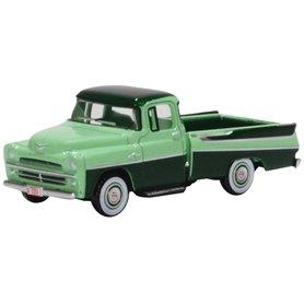 Oxford Models 133440 Dodge D100 Sweptside Pick Up 1957 Forest Green/Misty Green