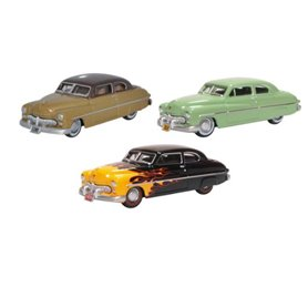Oxford Models 133525 3 Piece 1949 Mercury Set 70th Anniversary