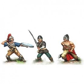 Prince August 688 Fantasy Armies, Barbarian Raiders 3 st, 25mm höga