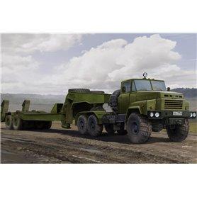 Hobby Boss 85523 Russian KrAZ-260B Tractor with MAZ/ChMZAP-5247G semitrailer
