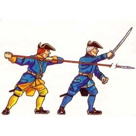 Prince August 903 Karoliner, Officerare och Spjutman, 40mm höga