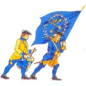 Prince August 904 Karoliner, Trumslagare och Fanbärare, 40mm höga