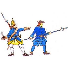 Prince August 905 Karoliner, Grenadjär och Underofficerare, 40mm höga
