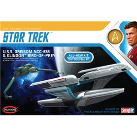 Polar Lights 957 Star Trek U.S.S. Grissom / Klingon BOP (2-Pack) Snap