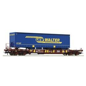 """Roco 75906 Flakvagn AAE Sdgmns 33 68 4586 127-5 med last av trailer """"LKW Walter"""""""