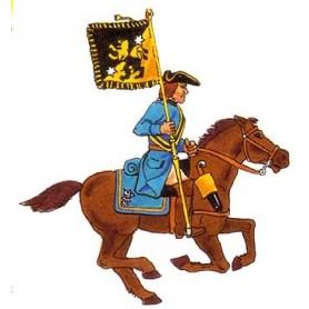 Prince August 933 Karoliner, Ryttare med fana, 40mm höga