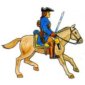 Prince August 935 Karoliner, Kavallerist, 40mm höga