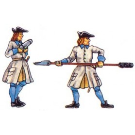 Prince August 953 Karoliner, Artillerister 2 st, 40mm höga
