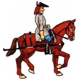 Prince August 955 Karoliner, Artillerihäst med kusk, 40mm hög