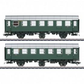 Märklin 43185 Vagnsset med 2 personvagnar 3.e klass typ DB