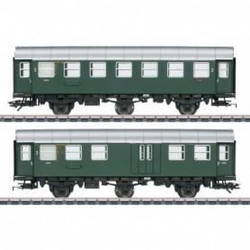 Märklin 43195 Vagnsset med 2 personvagnar 3.e klass typ DB