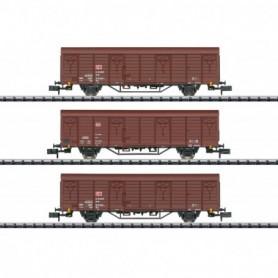 Trix 18901 Vagnsset med 3 godsvagnar Gbs 258 typ DB AG