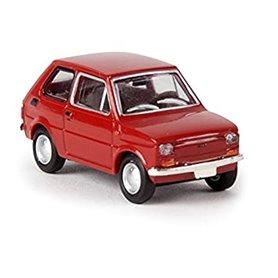"""Brekina 22351 Fiat 126 Limousine, röd """"Von Drummer"""""""