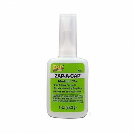 ZAP PT02 ZAP-A-GAP CA+ Superlim (Green Label), mediumflytande, 1 oz, 28.3 gram