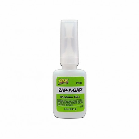 ZAP PT03 ZAP-A-GAP CA+ Superlim (Green Label), mediumflytande, 1|2 oz, 14.1 gram