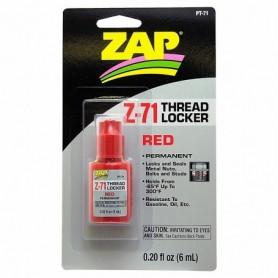 ZAP PT71 ZAP Z-71 RED THREAD LOCKER, skruvlås, 0.20 oz, 6 ml