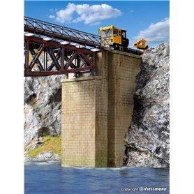 Kibri 39750 Universal brick-built bridge piers, 2 pieces