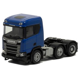 Herpa Exclusive 580444 Dragbil Scania CR 20, 3-axlig, blå