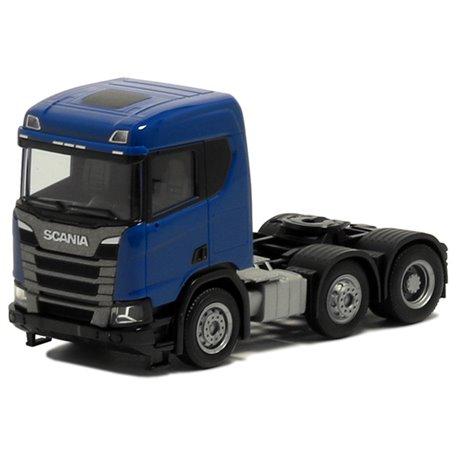 Herpa Exclusive 580444 Dragbil Scania CR 20, 3-axlig, blå