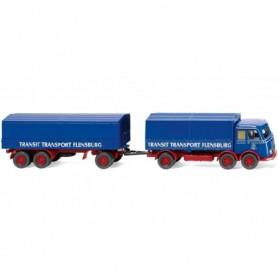 Wiking 42902 Flatbed road train (MB LP 333) 'Transit Transport'