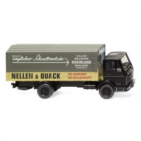Wiking 43702 Flatbed lorry (MB NG) 'Nellen & Quack'