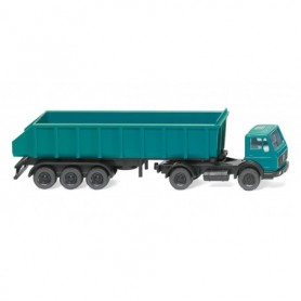 Wiking 94806 Rear tipper dumper truck (MB) - water blue
