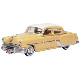 Oxford Models 133495 Pontiac Chieftain 4 Door 1954 Winter White maize Yellow