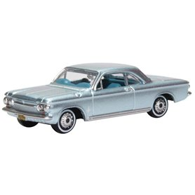 Oxford Models 129405 Chevrolet Corvair Coupe 1963 Satin Silver