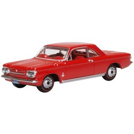 Oxford Models 133358 Chevrolet Corvair Coupe 1963 Riverside Red