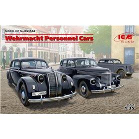 ICM DS3504 Wehrmacht Personnel Cars (Kadett K38 Saloon, Kapitan Saloon, Admiral Saloon)