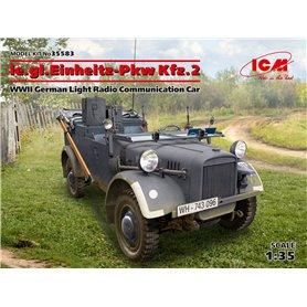 ICM 35583 le.gl.Einheitz-Pkw Kfz.2, WWII German Light Radio Communication Car