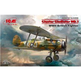 ICM 32040 Flygplan Gloster Gladiator Mk.I, WWII British Fighter med svenska dekaler