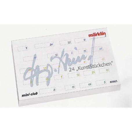 Märklin 81003 Adventskalender 2003 med 24 st blandade vagnar