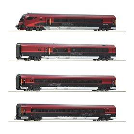 """Roco 74084 Vagnsset 4-delat """"Railjet"""" typ ÖBB"""