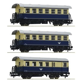 "Roco 74094 Vagnsset med 3 personvagnar ""Spantenwagen"" typ ÖBB"