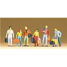 Preiser 10115 Gående resenärer, 6 st